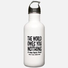 What in the World Water Bottle