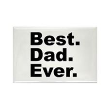 Best Dad Ever Rectangle Magnet (10 pack)