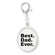 Best Dad Ever Silver Oval Charm