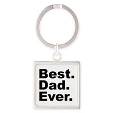 Best Dad Ever Square Keychain
