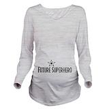 Maternity superhero Long Sleeve T Shirts