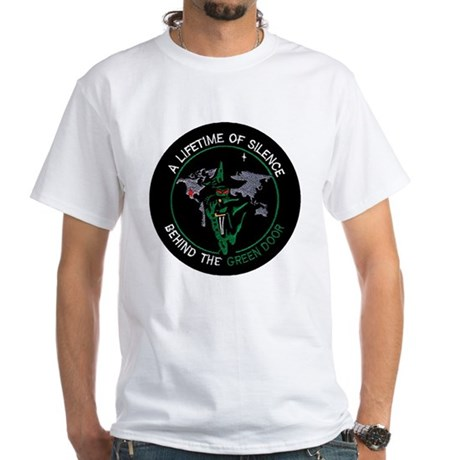 Green Door Outfit White T-Shirt