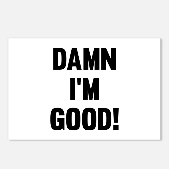 Damn I'm Good! Postcards (Package of 8)