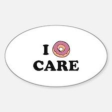 I Donut Care Sticker (Oval)