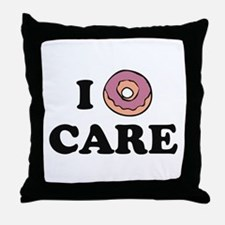 I Donut Care Throw Pillow