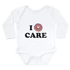 I Donut Care Long Sleeve Infant Bodysuit