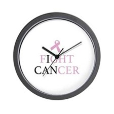 Fight Cancer Wall Clock