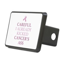 Careful I Already Kicked Cancer's Ass Hitch Cover