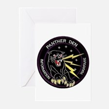 Panther Den Greeting Cards (Pk of 10)