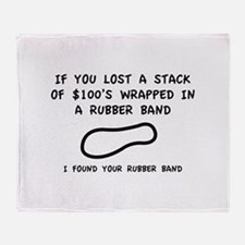 I Found Your Rubber Band Stadium Blanket