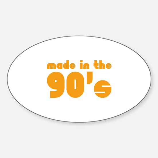 Made In The 90's Sticker (Oval)