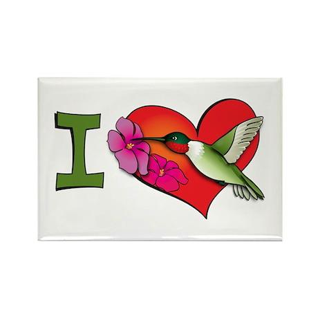 I heart hummingbirds Rectangle Magnet (100 pack)