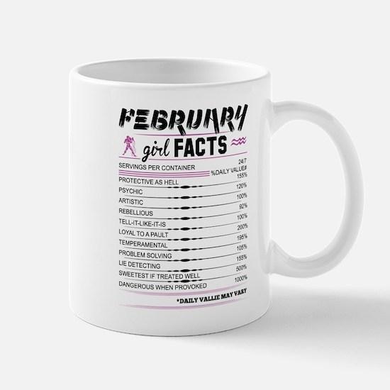 February Girl Facts Aquarius Mugs