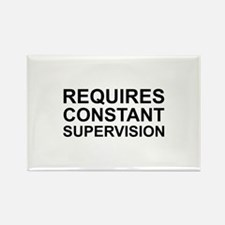 Requires Constant Supervision Rectangle Magnet