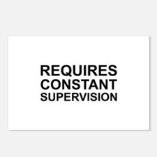 Requires Constant Supervision Postcards (Package o
