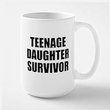 Teenage Daughter Survivor Large Mug