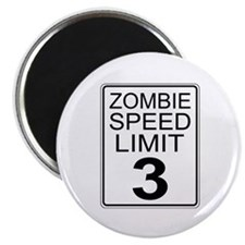 """Zombie Speed Limit 2.25"""" Magnet (10 pack)"""