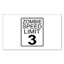 Zombie Speed Limit Decal