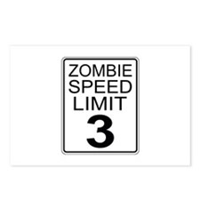 Zombie Speed Limit Postcards (Package of 8)