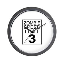Zombie Speed Limit Wall Clock