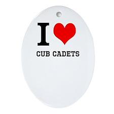 I Heart Cub Cadets Ornament (Oval)