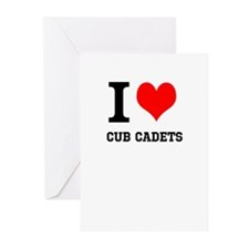 I Heart Cub Cadets Greeting Cards