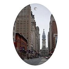City Hall Philadelphia Oval Ornament