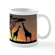 Giraffes In The Sunset Mugs