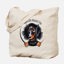 Dachshund Longhair B/T IAAM Tote Bag