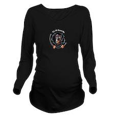 LH Dachshund B/T IAAM Logo Long Sleeve Maternity T