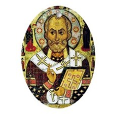 Saint Nicholas, Patron Saint of Chil Oval Ornament
