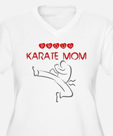 proud karate mom Plus Size T-Shirt