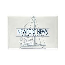 Newport News - Rectangle Magnet