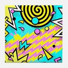 Retro Pattern Tile Coaster
