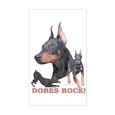 Dobes ROCK Rectangle Decal