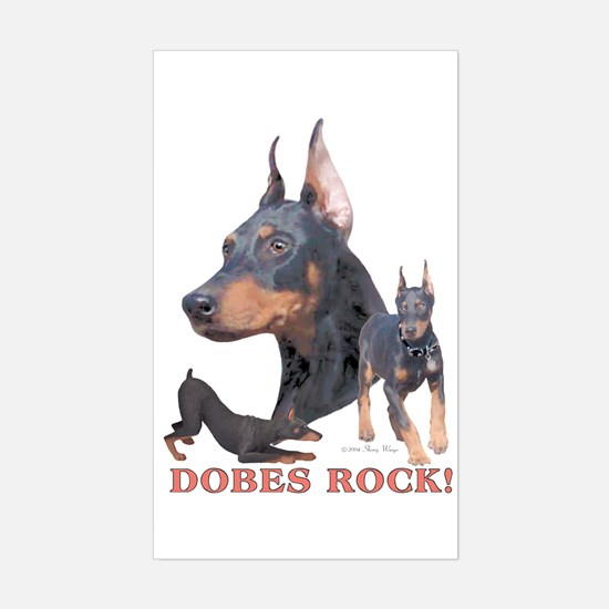 Dobes ROCK Rectangle Decal