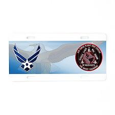 USAF Ghost Squadron Aluminum License Plate