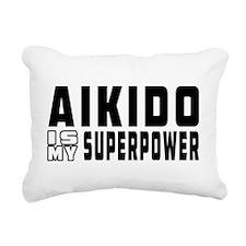 Aikido Is My Superpower Rectangular Canvas Pillow