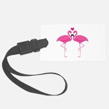 Pink Flamingoes Luggage Tag
