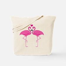 Pink Flamingoes Tote Bag