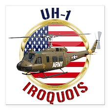 """UH-1 Iroquois Square Car Magnet 3"""" x 3"""""""