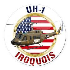 UH-1 Iroquois Round Car Magnet