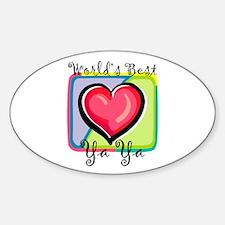 WB Grandma [Greek] Oval Bumper Stickers
