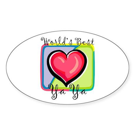 WB Grandma [Greek] Oval Sticker