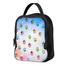 Paw Prints Neoprene Lunch Bag