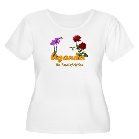 UgandaGoodies Women's Plus Size Scoop Neck T-Shirt
