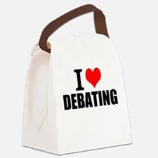 I Love Debating Canvas Lunch Bag