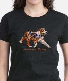 Red Merle Australian Shepherd with Ribbon T-Shirt