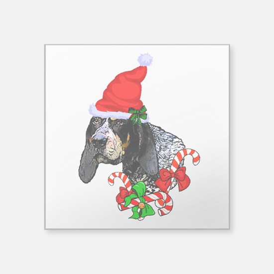 Bluetick Coonhound Christmas Sticker