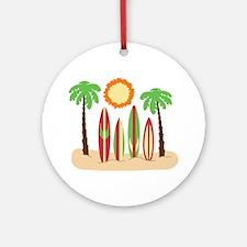 Surf Boards Beach Ornament (Round)
